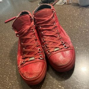 Balenciaga Arena red men's shoes